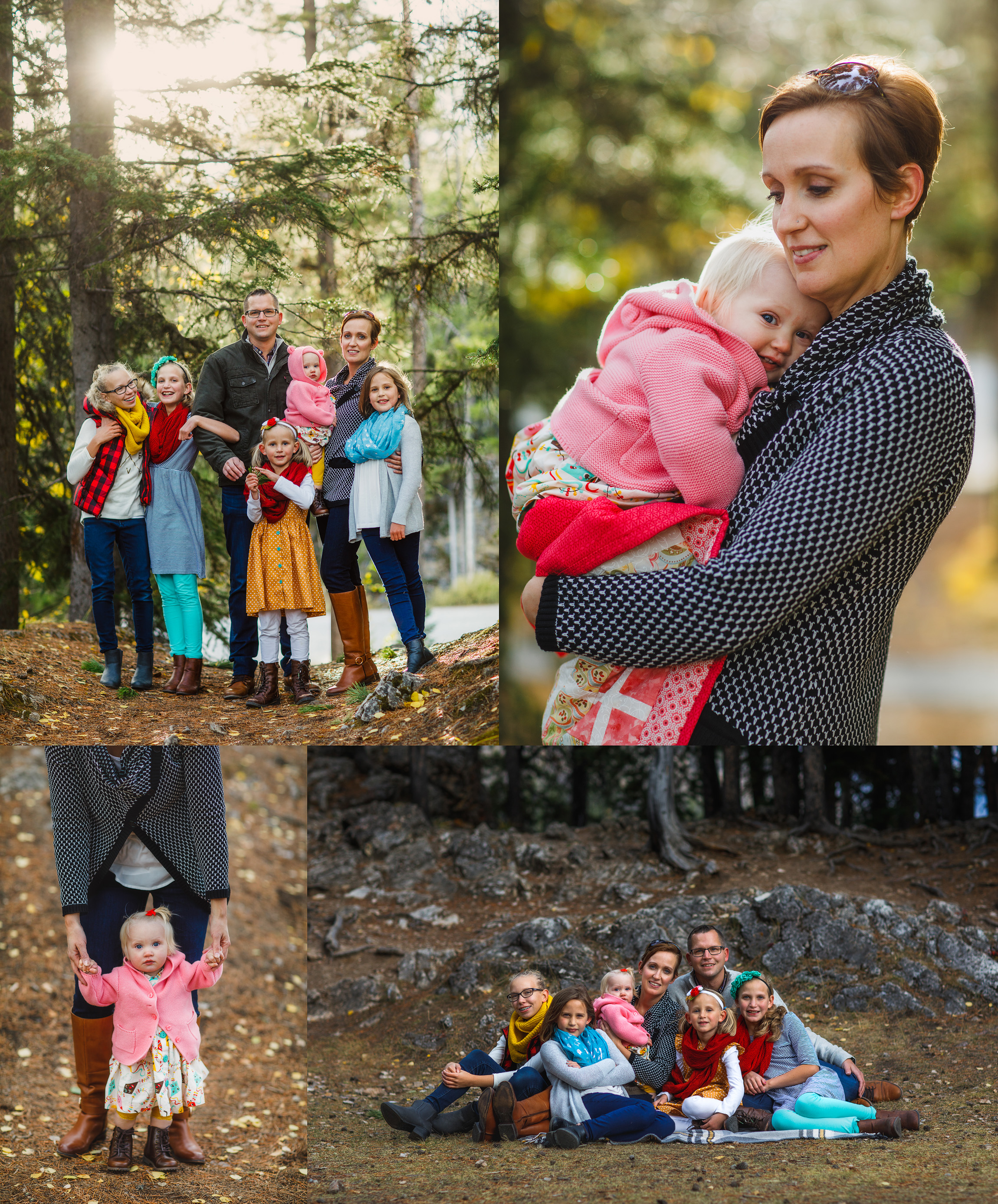 family photos taken in Banff by Calgary photographer Kelly MacDonald